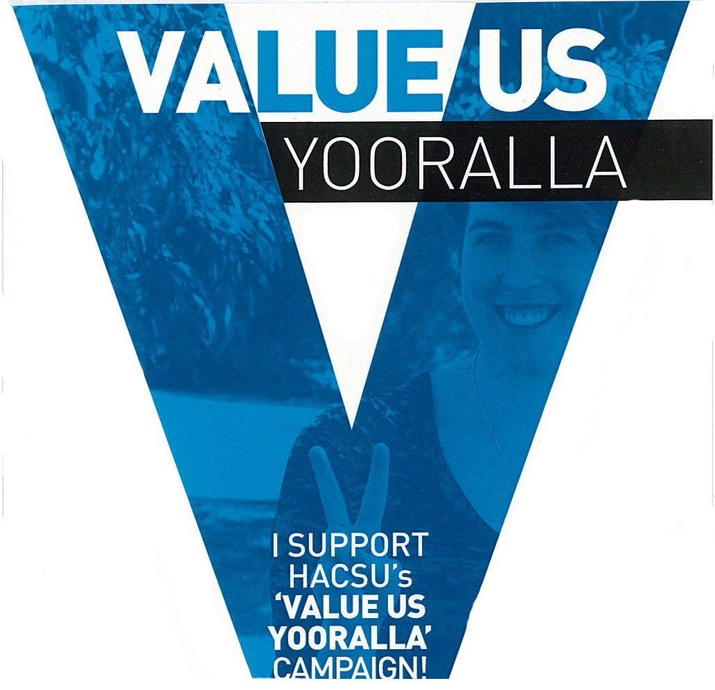 Content for Yooralla, Value us Campaign