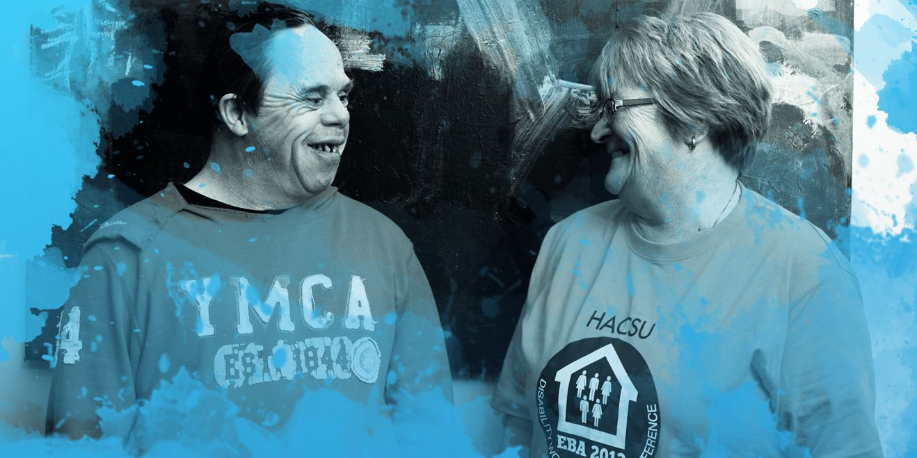 John and Breda blue