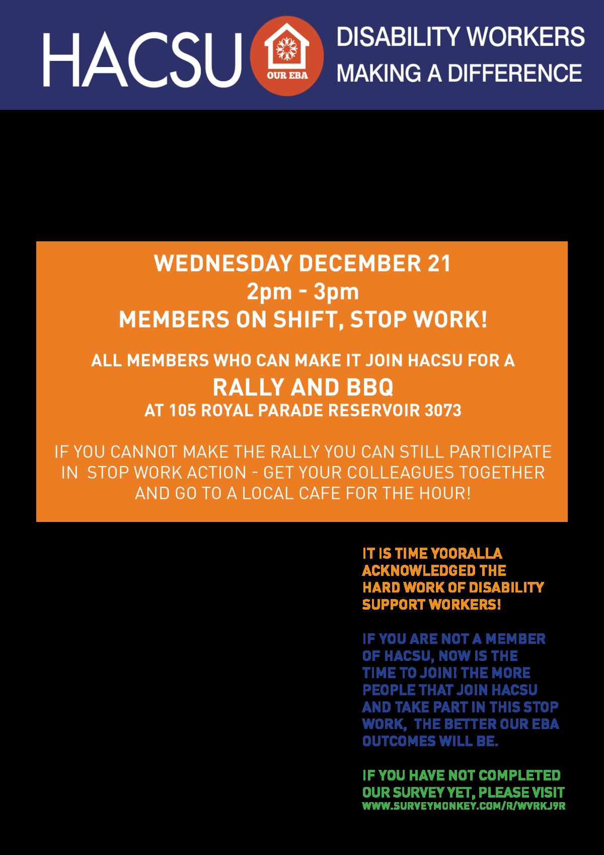 December stop work notice
