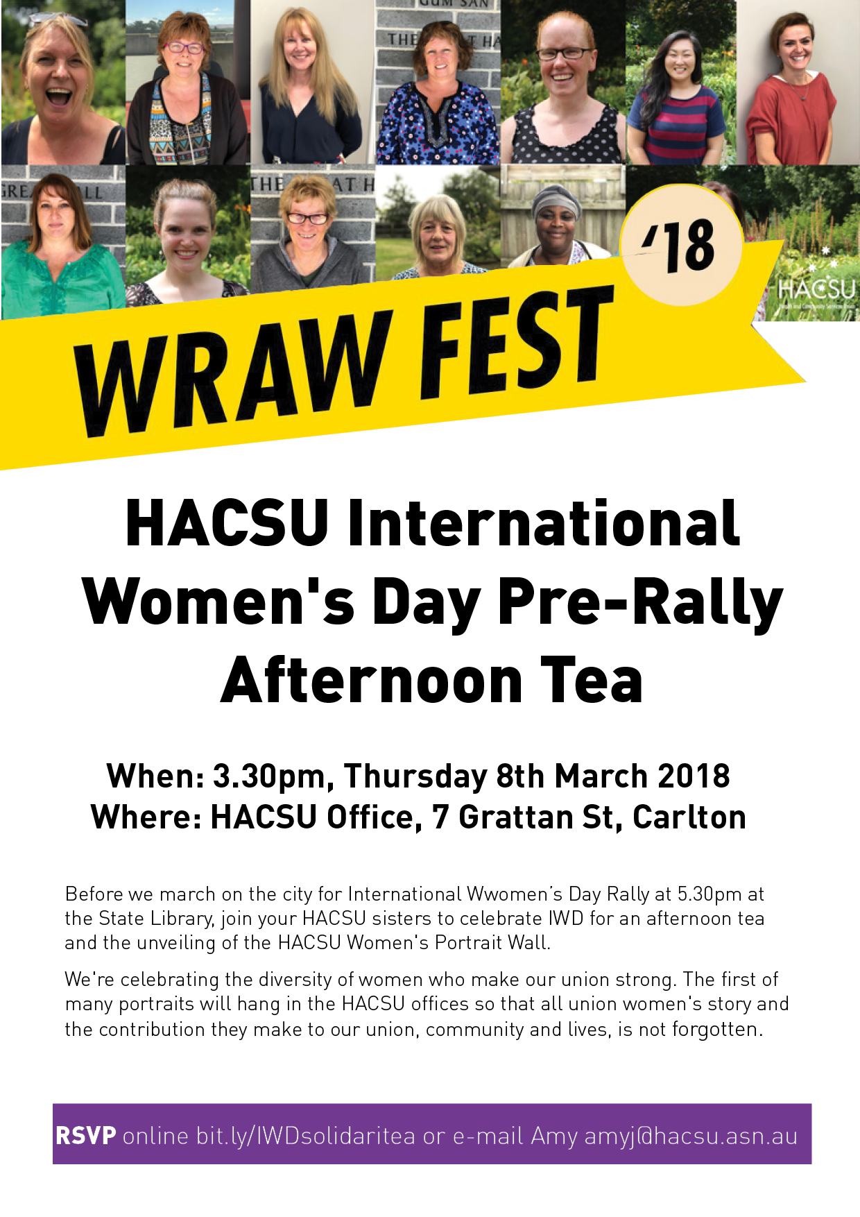 iwd afternoon tea flyer