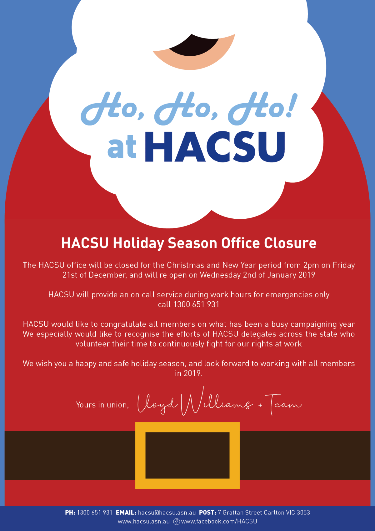 Christmas Shutdown flyer 2019-19