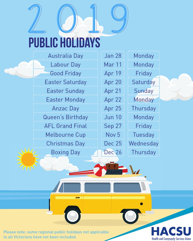 Public Holidays 2019