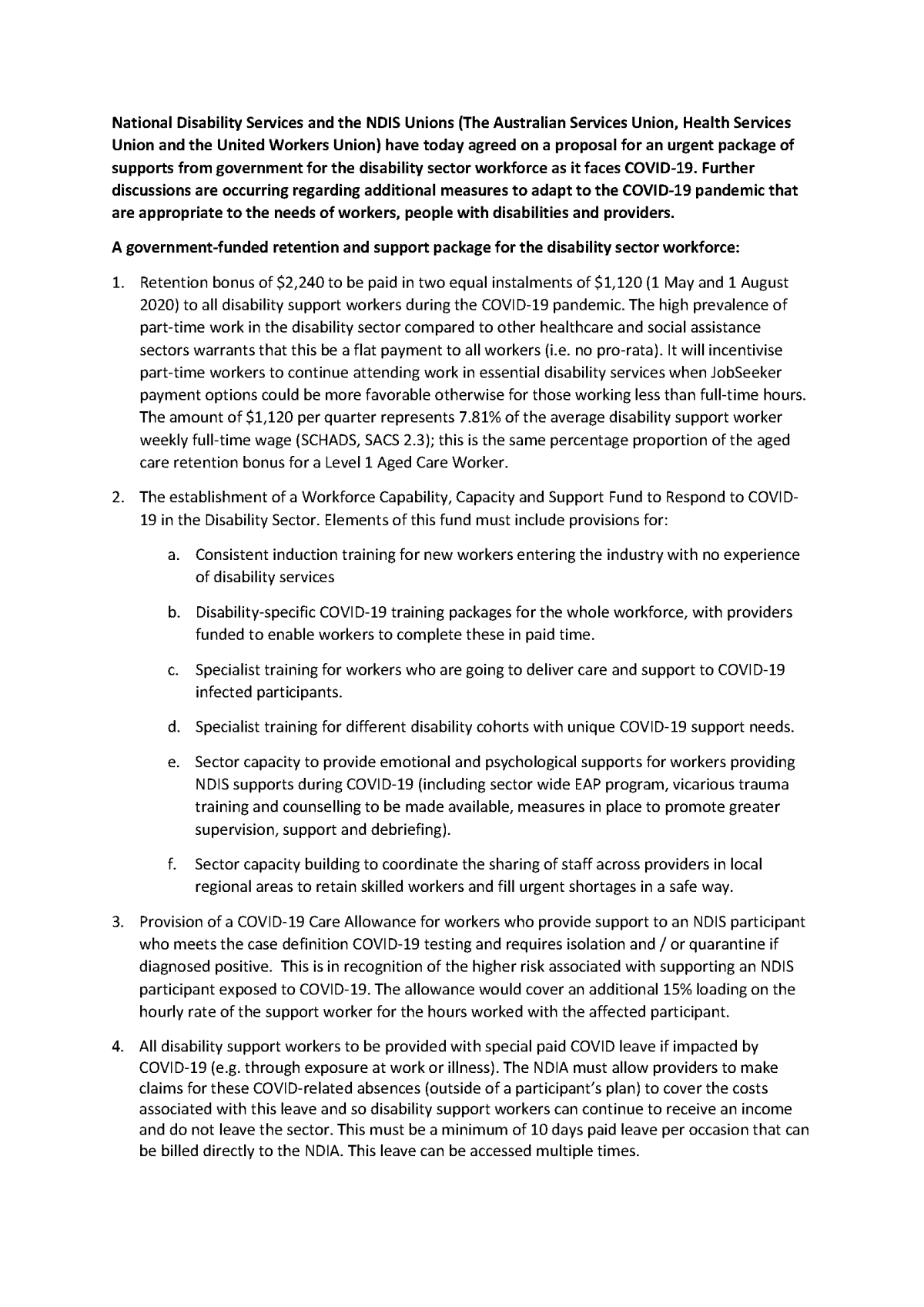 20200407 - Disability Sector Support - Joint Letter and Proposal - NDS-HSU-ASU-UWU.pdf_Page_2