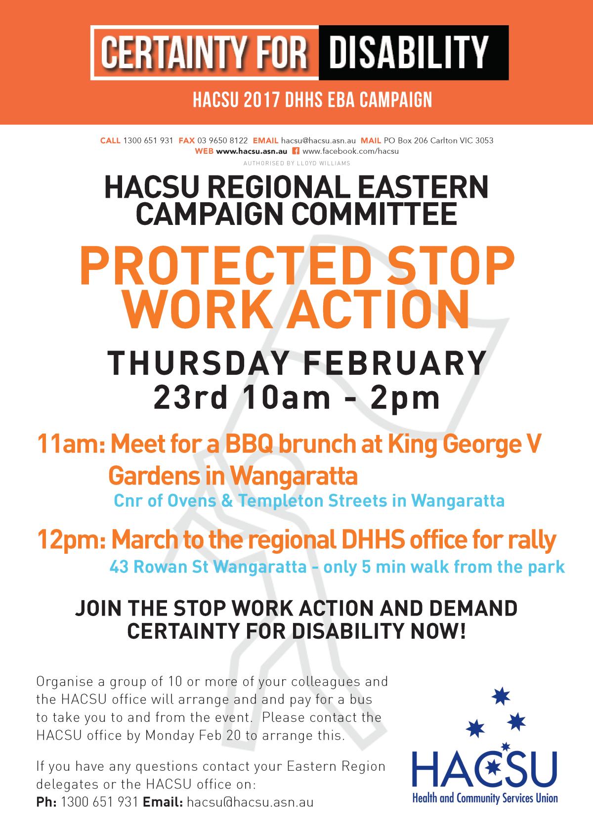 20160214 Wangaratta stop work