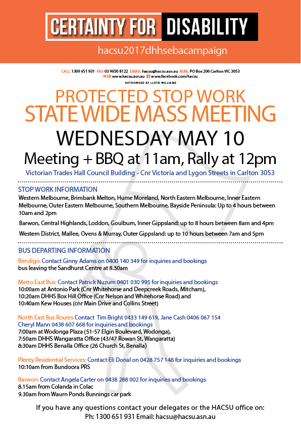 20170503 statewide meeting BUS INFO